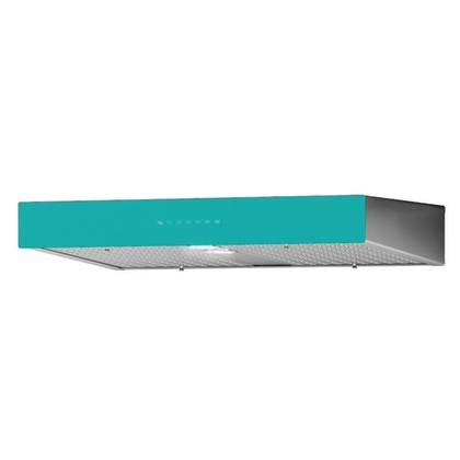 Range Hoods - Front Glass Turquoise Ispira C700 - 30 in