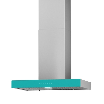 Range Hoods - Front Glass Turquoise Ispira CC700 - 30 in