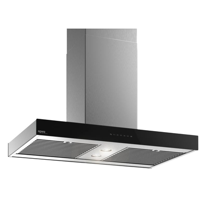 Range Hoods - Glass IS700 Front Black - Front with control