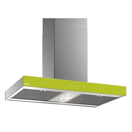 Range Hoods - Glass IS700 Front Lime - Front with control - 36 in.