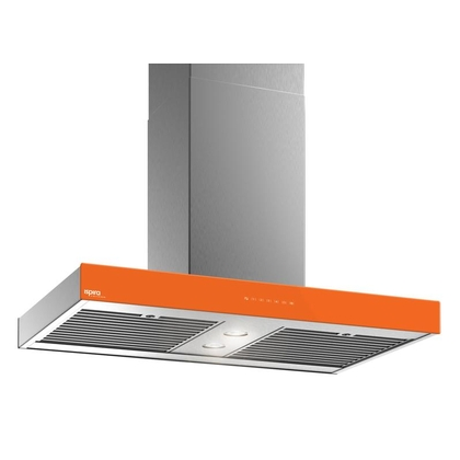 Range Hoods - Glass IS700 Front Orange - Front with control - 36 in.