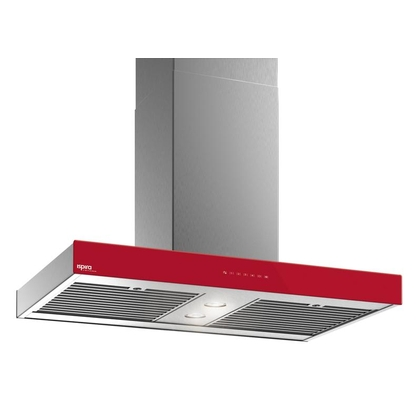 Range Hoods - Glass IS700 Front Red - Front with control - 36 in.
