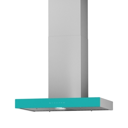 Range Hoods - Front Glass Turquoise Ispira CC700 or CIS700 - 36 in