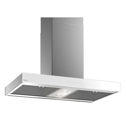 Range Hoods - Glass IS700 Front White - Front with control