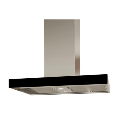 Range Hoods - Glass IS700 Front Black - Rear - 36 in.