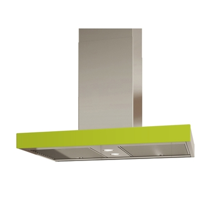 Range Hoods - Glass IS700 Front Lime - Rear - 36 in.