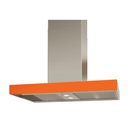 Range Hoods - Glass IS700 Front Orange - Rear - 36 in.