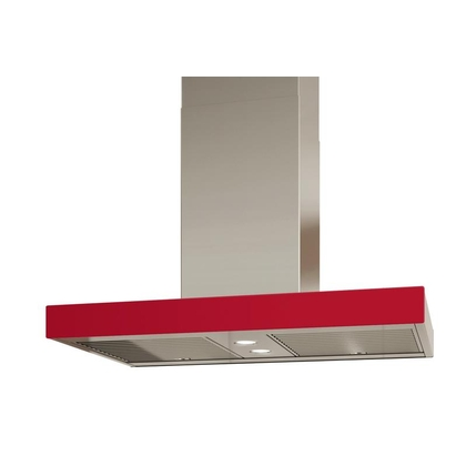 Range Hoods - Glass IS700 Front Red - Rear - 36 in.