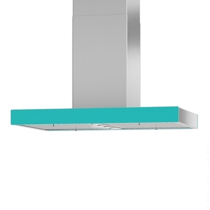 Venmar - Range Hoods - Glass Turquoise back  Ispira CIS700 - 36 in Glass Ispira CIS700 back Turquoise - 36 in