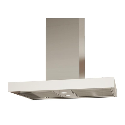 Range Hoods - Glass IS700 Front White - Rear - 36 in.