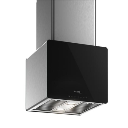 Range Hoods - Glass IK700 Front Black - Front with control - 16 in.
