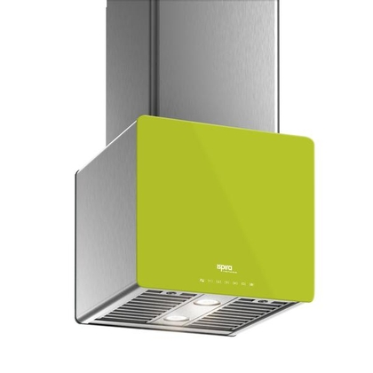 Range Hoods - Glass IK700 Front Lime - Front with control