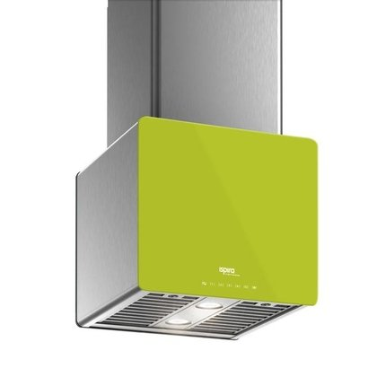 Venmar - Range Hoods - Glass IK700 Front Lime - Front with control Glass IK700 Front Lime - Front with control - 16 in.