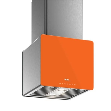 Range Hoods - Glass IK700 Front Orange - Front with control - 16 in.