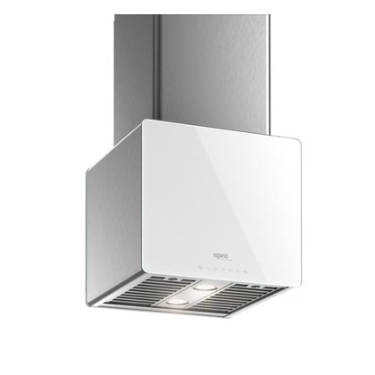 Range Hoods - Glass IK700 Front White - Front with control - 16 in.