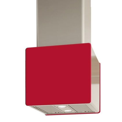 Range Hoods - Glass IK700 Front Red - Rear - 16 in.