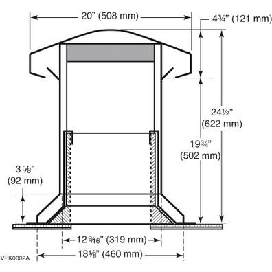 Attic Ventilator For Flat Roofs Black No 60113