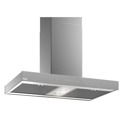 Range Hoods - Glass IS700 Front Brushed Gray - Front with control