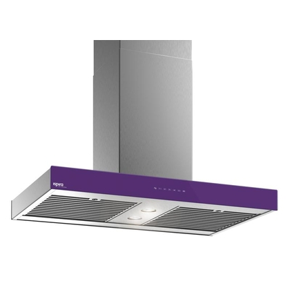 Range Hoods - Glass IS700 Front Purple - Front with control - 36 in.