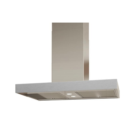 Venmar - Range Hoods - Glass IS700 Front Brushed Gray - Rear - 36 in. Rear Glass Pannel IS700 Brushed Gray - 36 in.