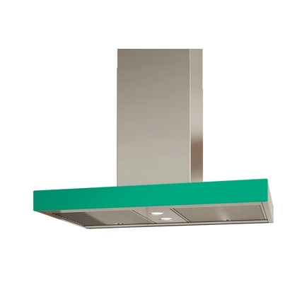 Venmar - Range Hoods - Glass IS700 Front Emerald - Rear - 36 in. Rear Glass Pannel IS700 Emerald - 36 in.