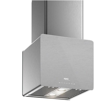 Range Hoods - Glass IK700 Front Brushed Gray - Front with control