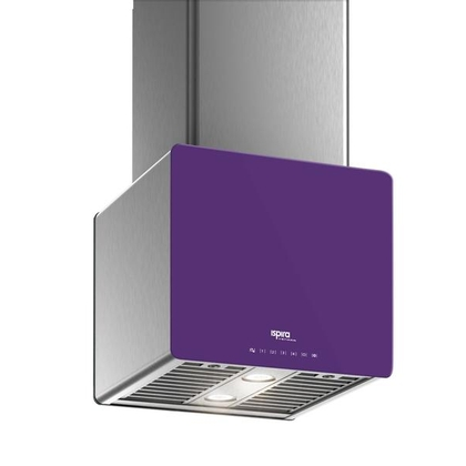Range Hoods - Glass IK700 Front Purple - Front with control
