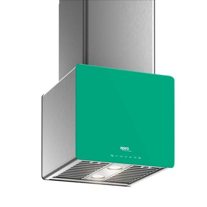 Range Hoods - Glass IK700 Front Emerald - Front with control