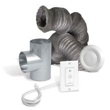 Optional bathroom installation kit for air exchangers